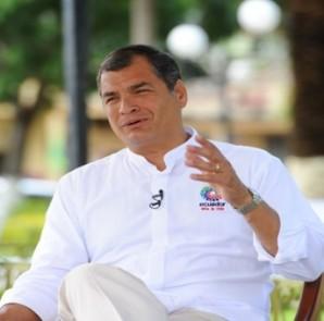 Rafael Correa. guerra