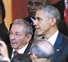 Castro-Obama en Panamá  1