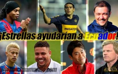 Ronaldinho podría reclutar a sus amigos para ayudar a Ecuador